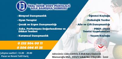 En iyi Psikolog İzmir aramalarınız ve ihtiyaçlarınızda güvenilir psikolog, pedagog  ve psikolojik danışman desteği için bizimle iletişime geçebilirsiniz. 0506 096 81 35 - 0232 504 00 11